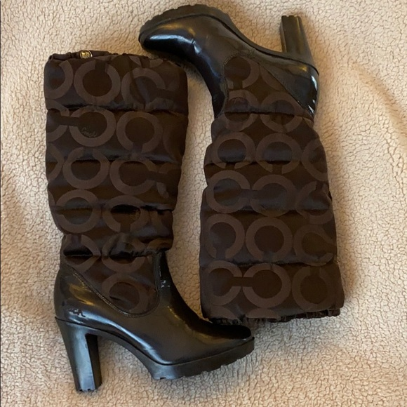 COACH Loryn Quilted Boots